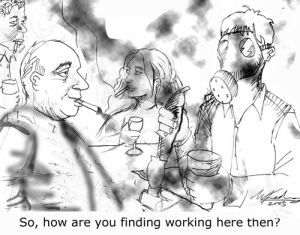 Smokefree pubs cartoon